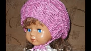 Шапка Модная - Knitting baby hat crochet - вязание крючком детской шапки(, 2014-06-19T17:45:50.000Z)