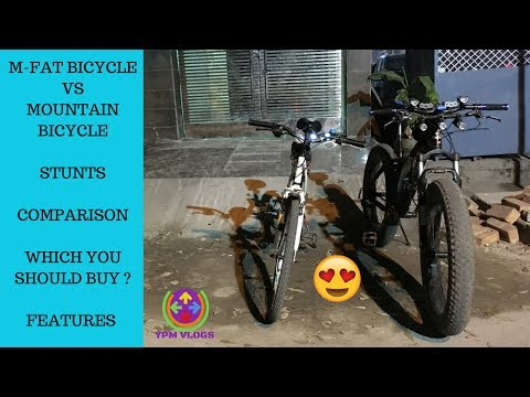 M-FAT BICYCLE VS BTWIN MOUNTAIN BICYCLE   STUNTS   WHICH ONE TO BUY ?   FAT BIKER VAIBHAV  