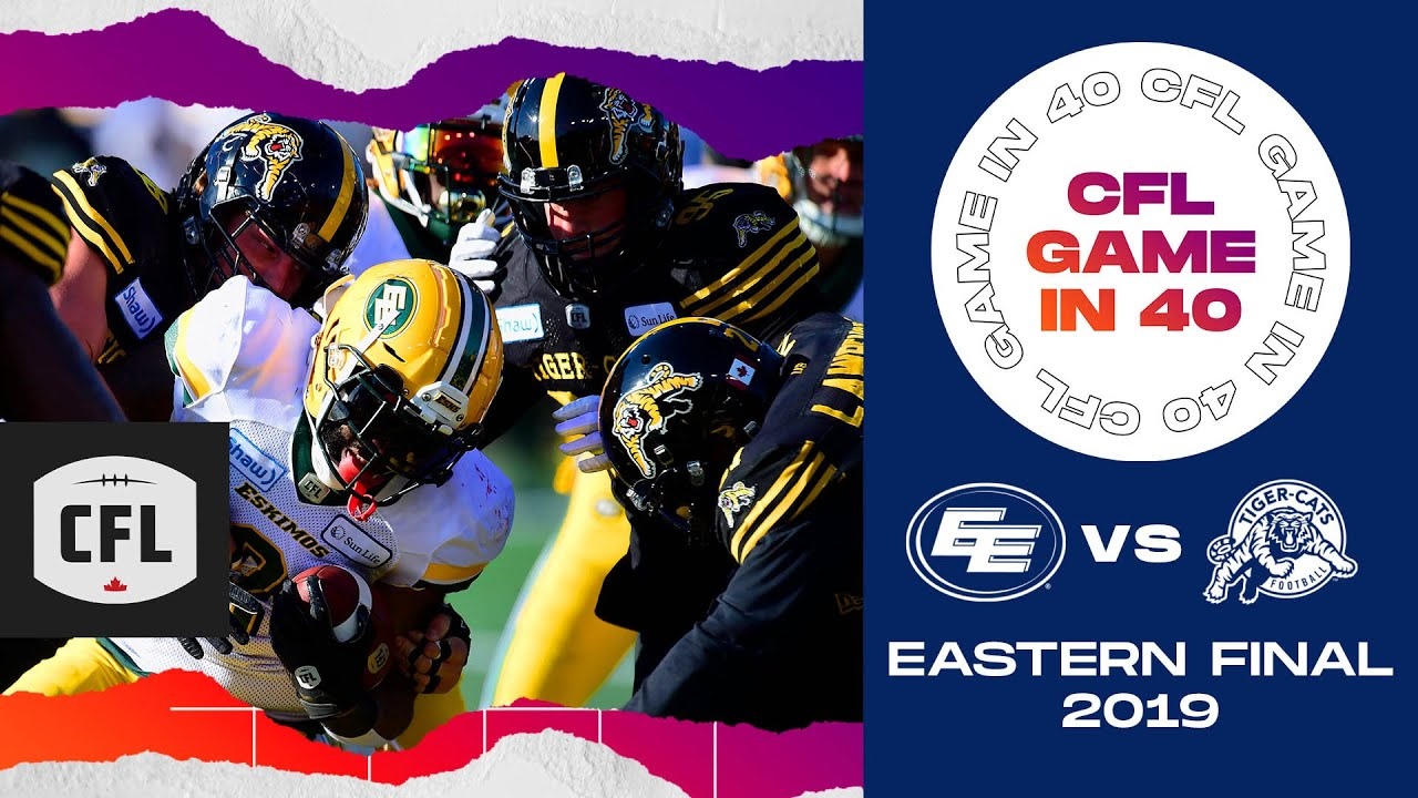 CFL Game in 40: Eastern Final 2019, Edmonton @ Hamilton