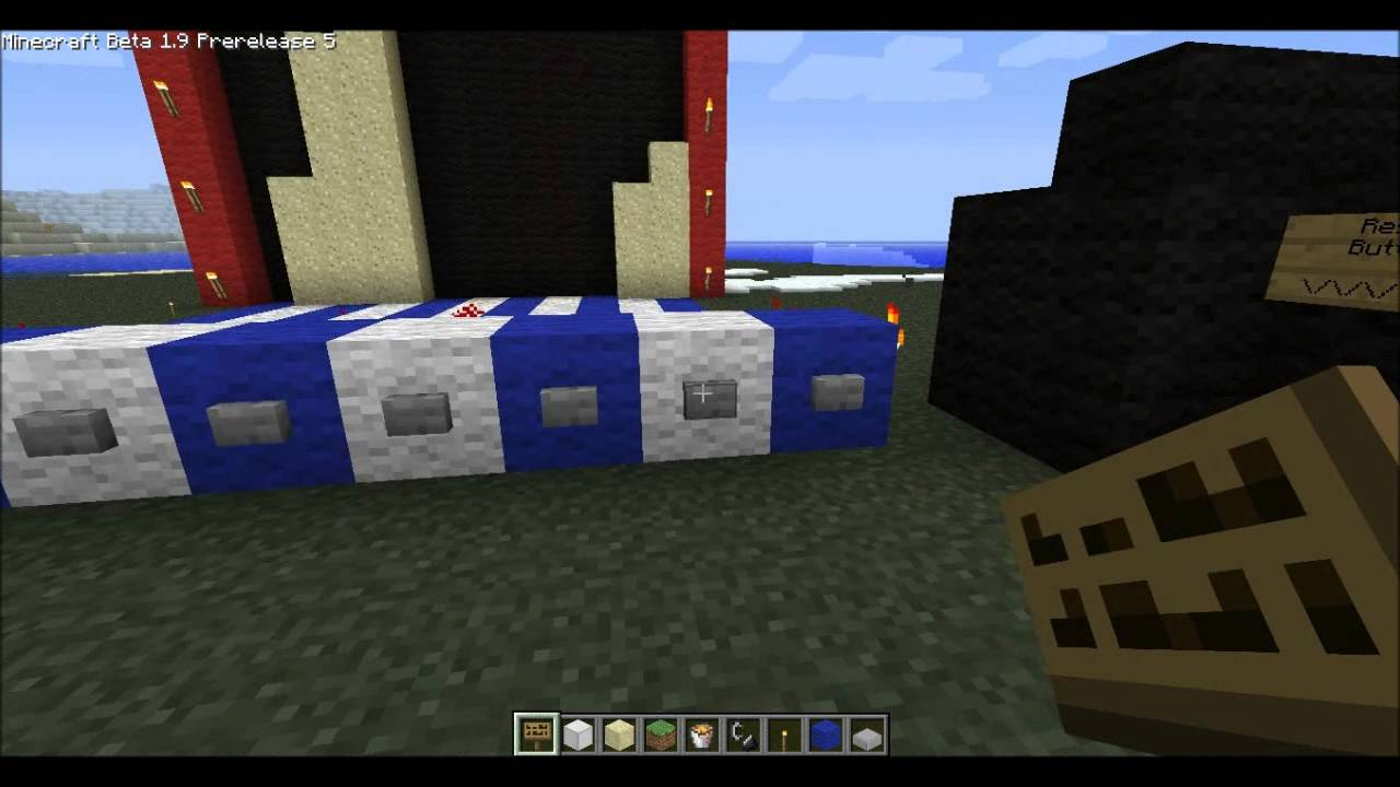 Minecraft falling sand game made from redstone youtube