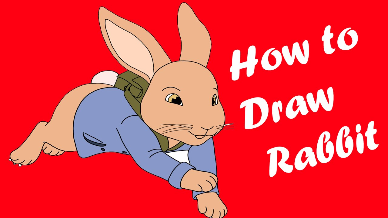 how to draw a rabbit easy youtube