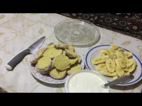 Тертый банановый пирог с