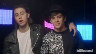 Vine Stars Nash and Hayes Grier at iHeartRadio Fest 2015 on Dancing With the Stars