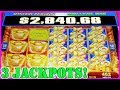 THIS SLOT MACHINE WAS ON FIRE! I GOT 3 HANDPAYS AND A MINI JACKPOT