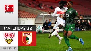 VfB Stuttgart FC Augsburg 2 1 Highlights Matchday 32 Bundesliga 2020 21