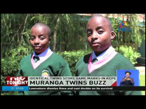 Twin brothers who scored similar KCPE marks admitted in same school and class