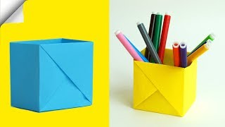How To Make A Paper Box of 1 sheet of paper | DIY paper box | DIY easy paper crafts