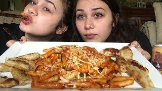 Ddukbokki (spicy rice cakes) & Gyoza MUKBANG