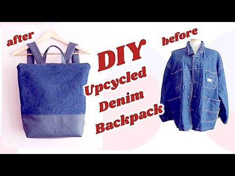 Refashion DIY Upcycled Denim Backpack / OLD JEANS Recycle / リュックサックの作り方 / Sewing Tutorialㅣmadebyaya