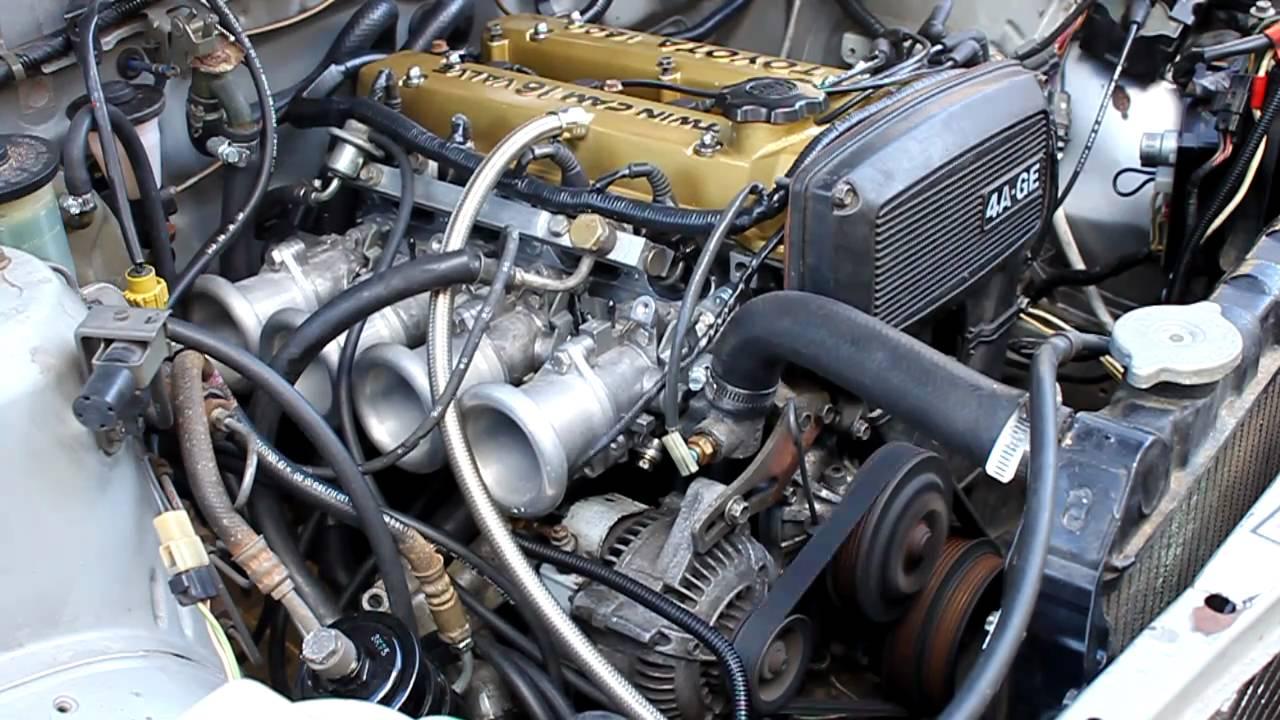 Alex's 4AGE Engine - Start & Rev