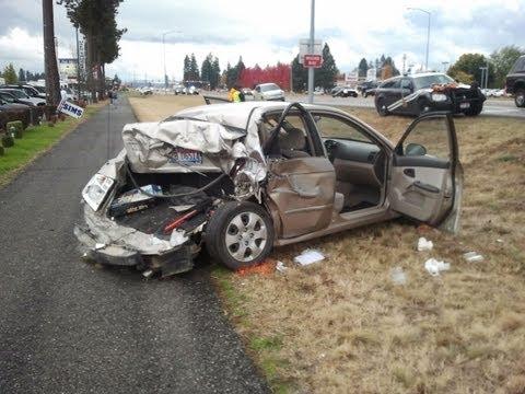 13 Car Crash - Highway 95 and Kathleen - Coeur d'Alene, Idaho - October 23, 2012