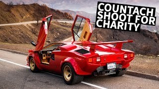 Larry Chen Shoots a Lamborghini Countach for Charity