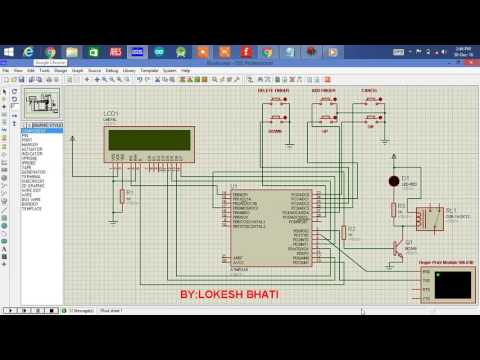 How to make fingerprint based security system using atmega8