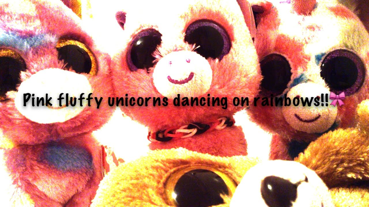 ab92433e7d6 Pink Fluffy Unicorns Dancing on Rainbows Beanie Boo Mv!!! - YouTube