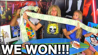 WE WON THE LOTTERY CHALLENGE!!! Scratch Off Winners