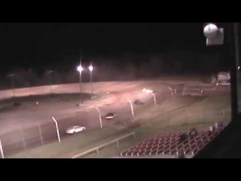 Dog Hollow Speedway 6/27/14 Four cylinder feature race finish.