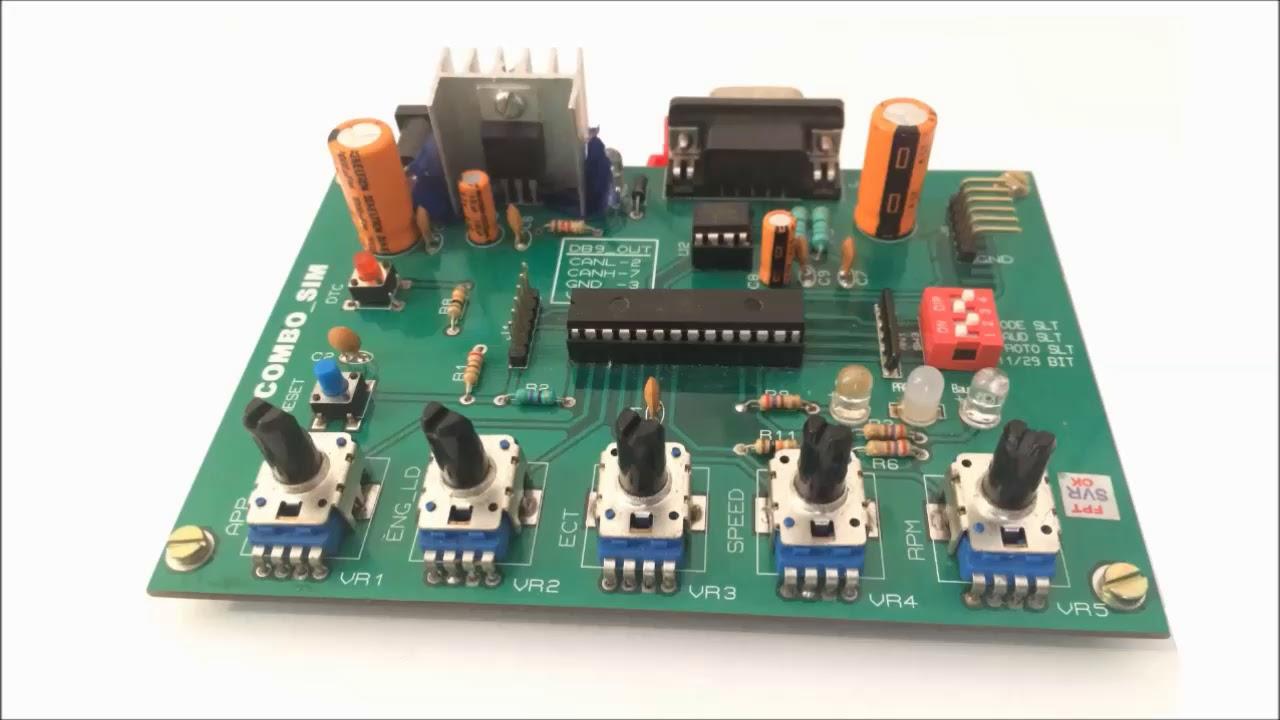 Combosim1000 - SAE J1939/SAE J1979 ECU Simulator