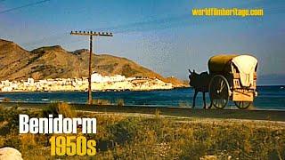 Benidorm 1950s in color, Alicante, Calpe, Guadalest, (Costa Blanca, Spain)