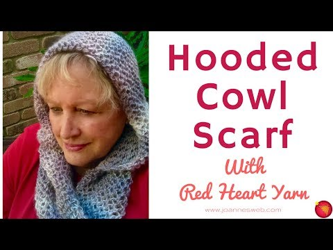 Hooded Cowl Scarf With Red Heart How To Knit A Scarf With A Hood