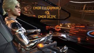 Elite Dangerous PVP | Duel with Railgun master CMDR deZpe