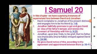 I Samuel 20 English Bible Study