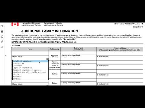 Imm 5406 Additional Family Information Form For Canada Step By Step How To Fill