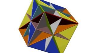 Элементы симметрии куба. cubic color 9m