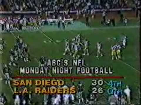 Raiders v Chargers 1984 (final minutes)