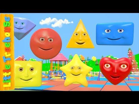 Learn Shapes | Videos For Kids | Kindergarten Nursery Rhymes For Babies by Little Treehouse