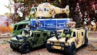 Toys Military Vehicles for Kids | Trucks | Motorcycle | Helicopter Toys soldiers Army men