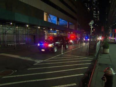 Raw Trump's Motorcade in New York City