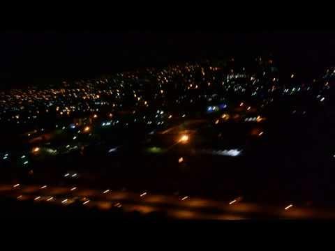 Landing in Accra, Ghana at Night