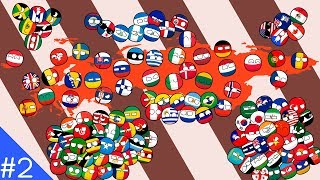 Countryballs Battle of Continents Marble Race #2   Europe vs America  vs Asia vs Africa