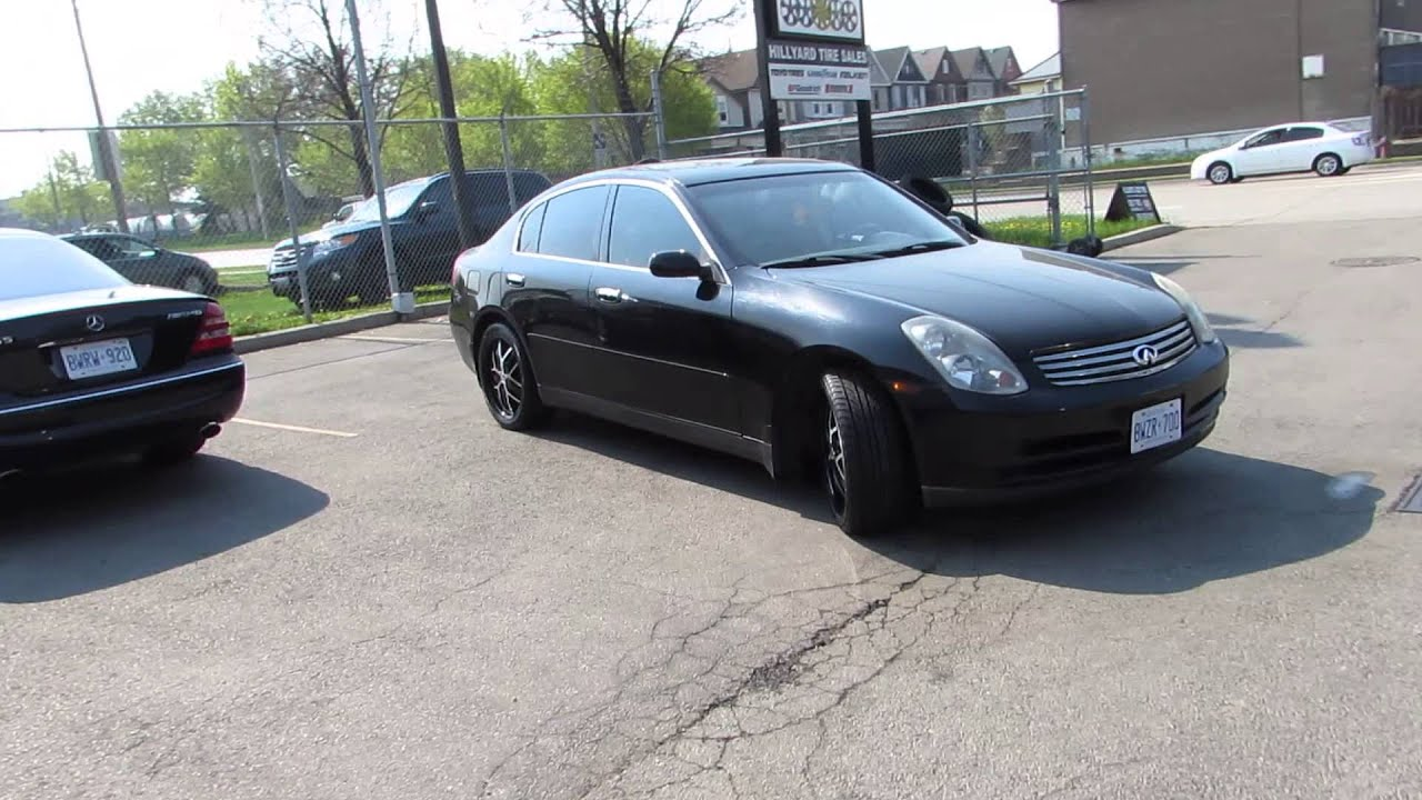 Hillyard rim lions 2002 infiniti g35 sedan with 18 inch black and hillyard rim lions 2002 infiniti g35 sedan with 18 inch black and machined custom rims youtube vanachro Image collections