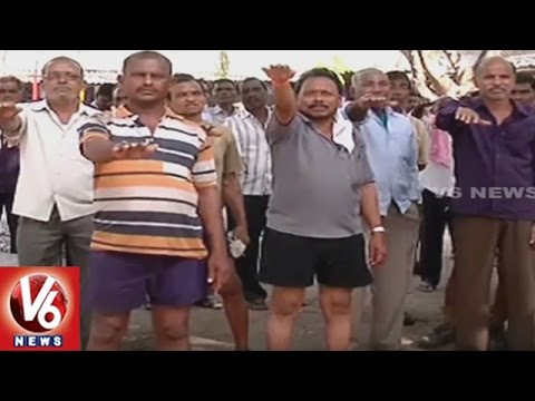 SCCL Workers Oppose Shift Of Coal Mines PF Office To Hyderabad | Godavarikhani | V6 News