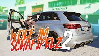 WOLF IM SCHAFSPELZ! Audi RS3 mit 550PS auf der Autobahn