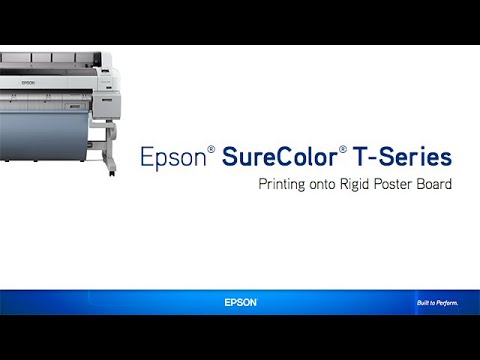 Epson SureColor T-Series | Printing onto a Poster Board
