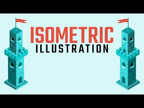How To Create An Isometric Illustration Without Grid Lines | Adobe Illustrator Tutorial thumbnail