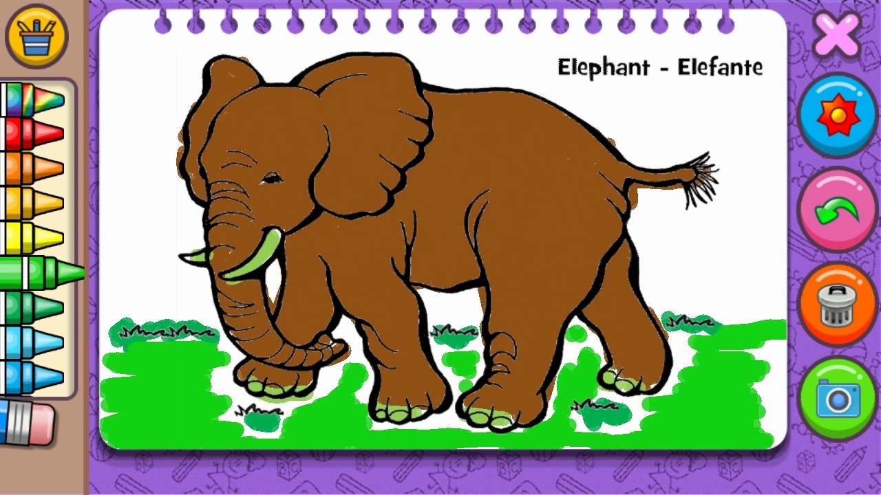 Elephant Coloring - Android Game For Kids, Toddlers ...