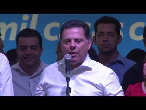 Governador Marconi Perillo discurso no lançamento do programa Goiás na Frente Habitação