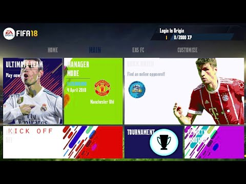 FIFA 14 Mod FIFA 18 Android Offline Best Graphics New Menu | Classico