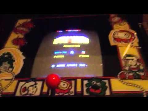 Dig dug arcade machine new monitor and gameplay - YouTube
