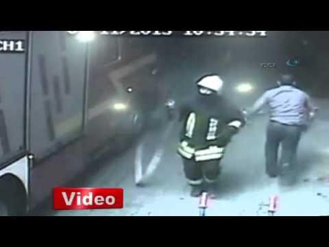 Gaziantep'teki yangın sonrası yaşananlar kamerada