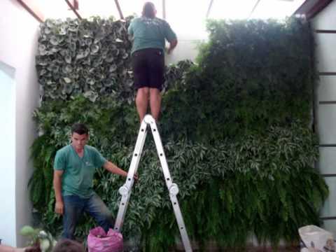 Jardim vertical youtube for Manta para jardin vertical