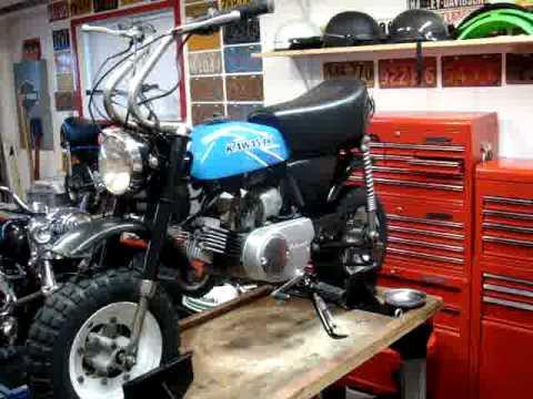 Kawasaki Kv 75 Kv75 Vintage Dirt Bike 1977 Minibike Youtube