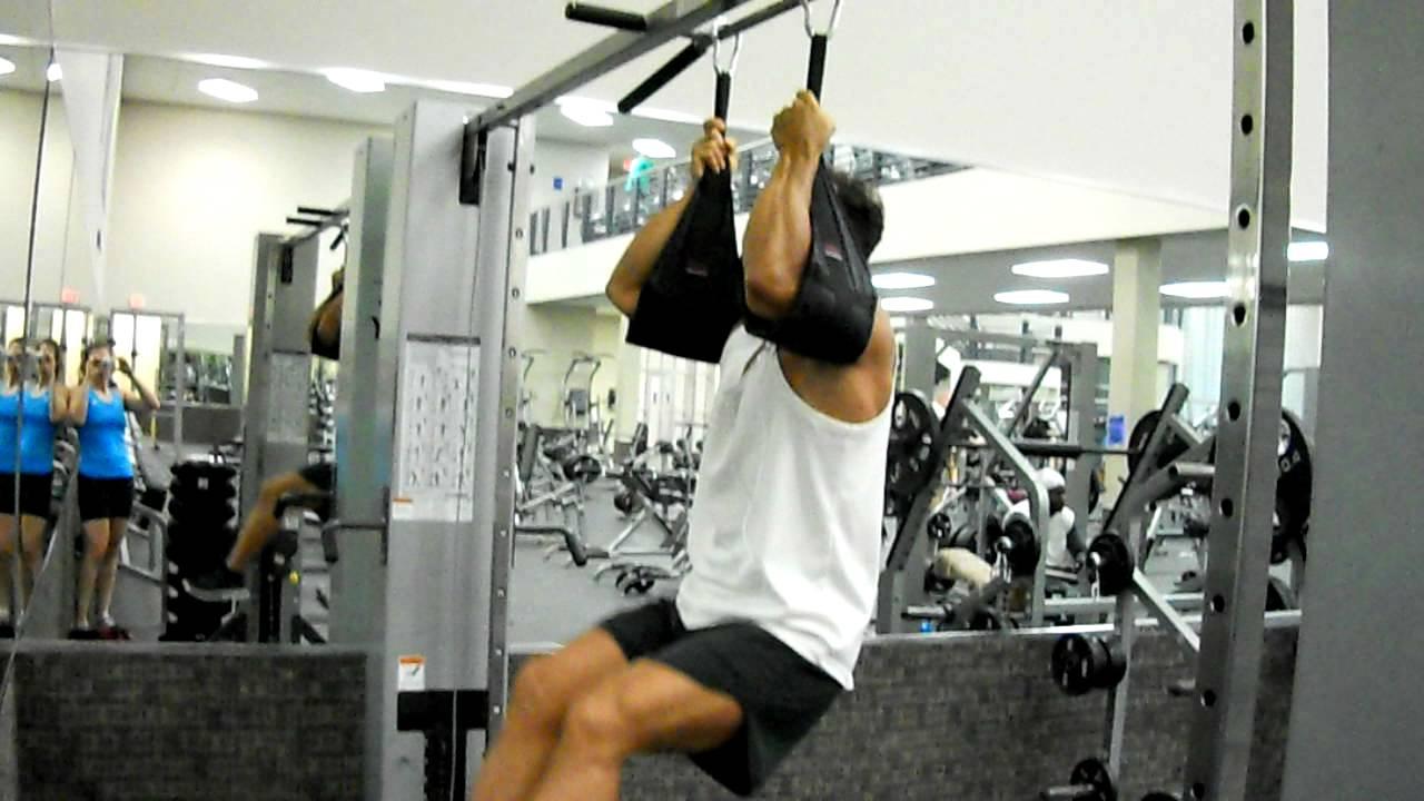 Hanging Leg Raise With Straps Hanging Leg Rai...