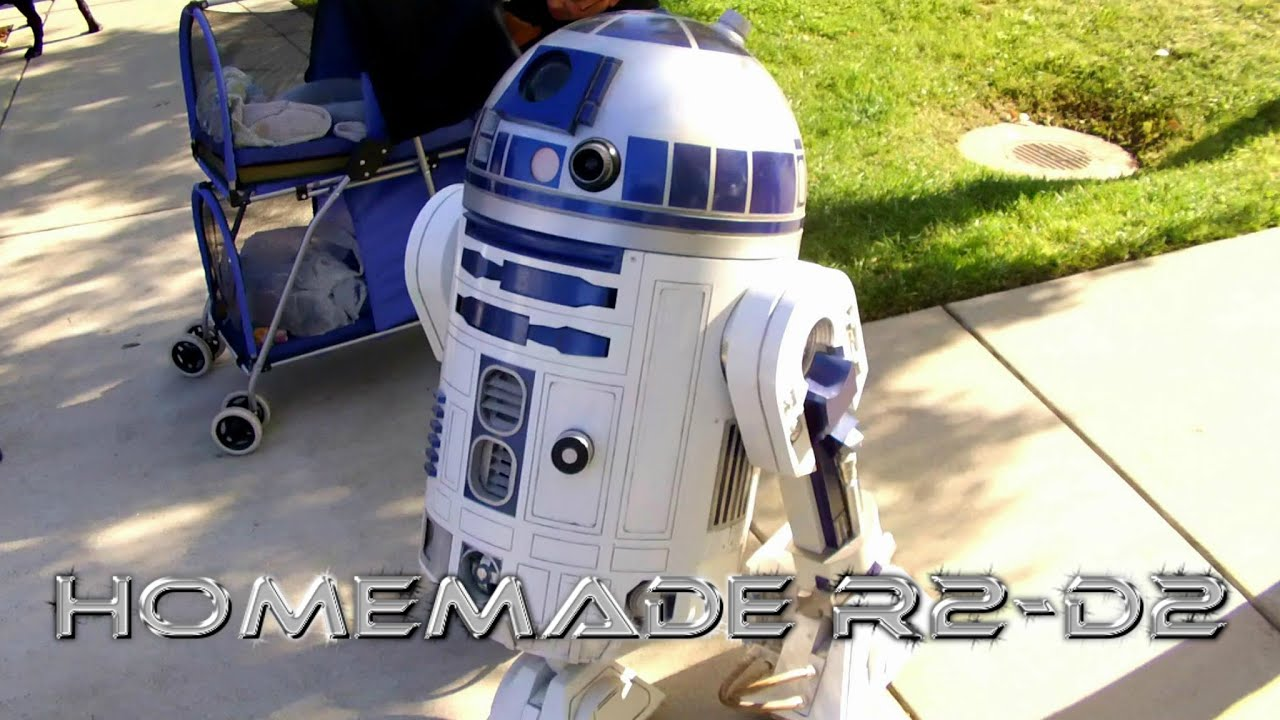 Homemade Life-Size R2-D2 - Remote Controlled Model - YouTube