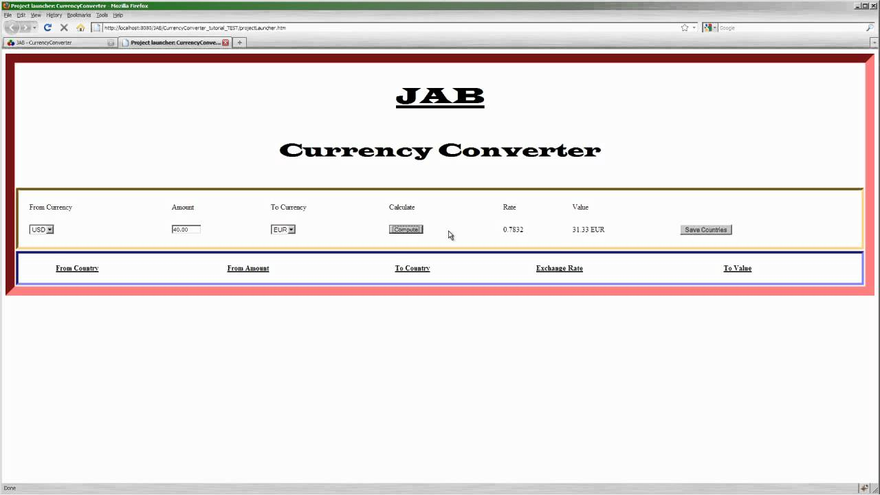 Currency Converter Web Service You