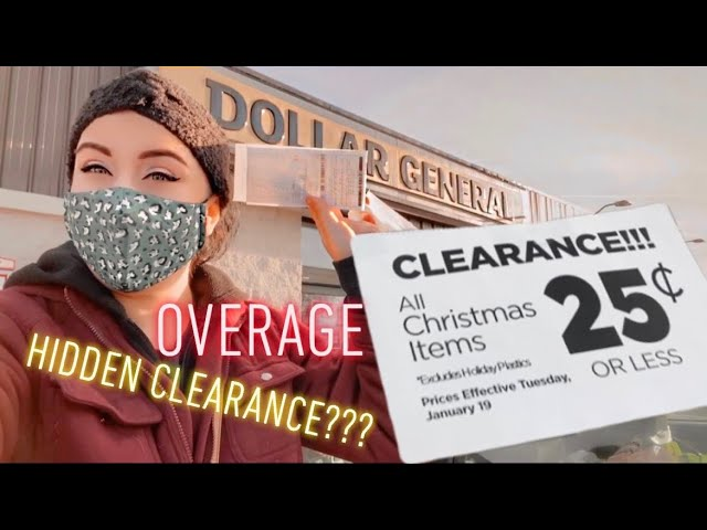 .25 Dollar General Christmas Items January 2021 Dollar General 25 Cent Christmas Sale Hidden Clearance Overage Get Paid To Shop Youtube