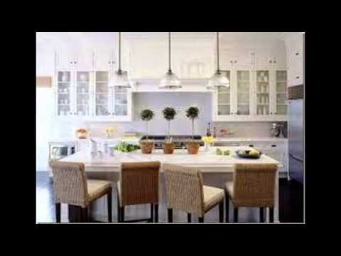 White Kitchen Cabinets With Glass Doors - YouTube